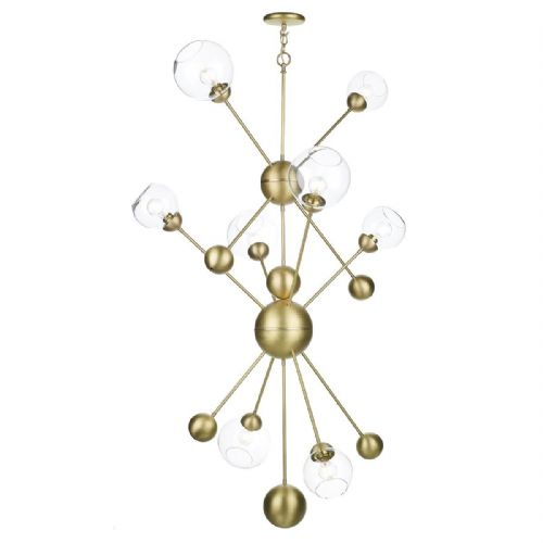 Cosmos 8 Light Pendant Butter Brass COS0840 (7-10 day Delivery)